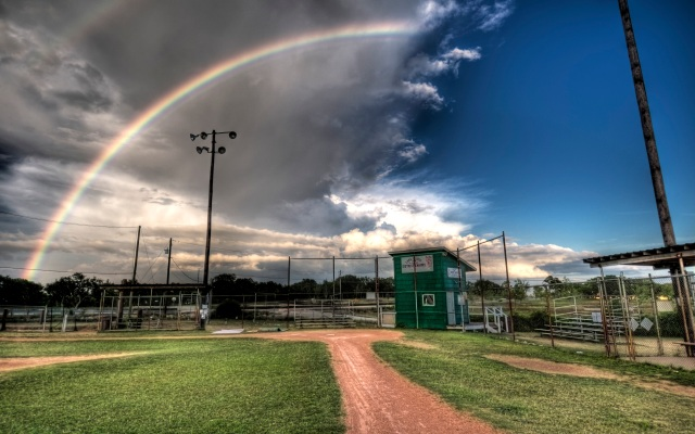 Baseball filed - Rainbow