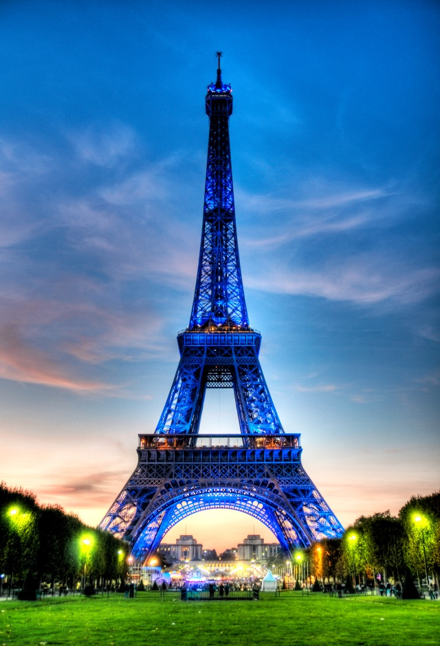 Eiffel Tower in Blue - HDR