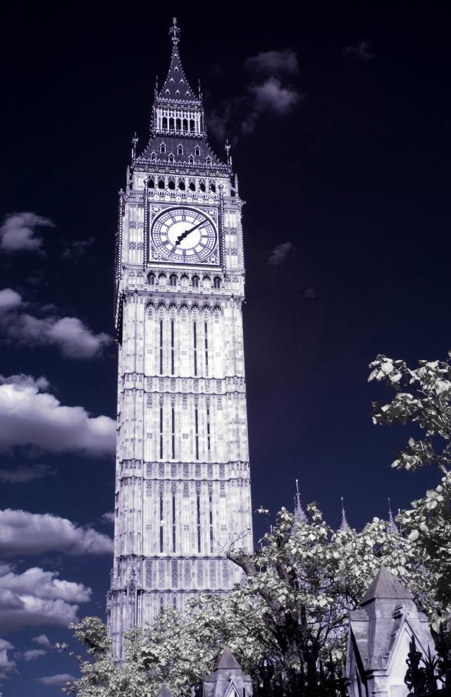 London, England - Big Ben IR