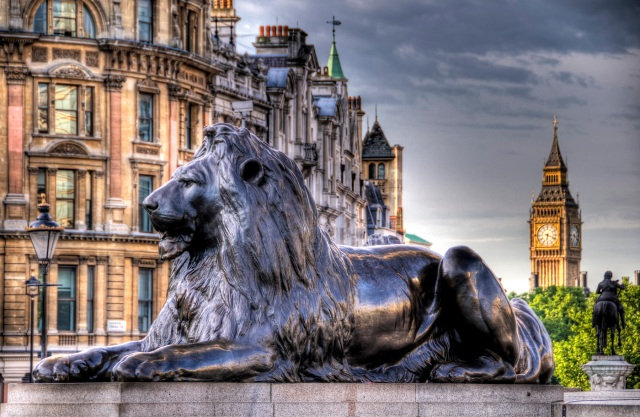 London, England - Lion HDR