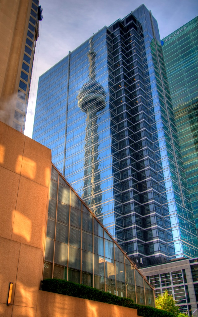 Toronto, Canada - CN Tower Reflective HDR