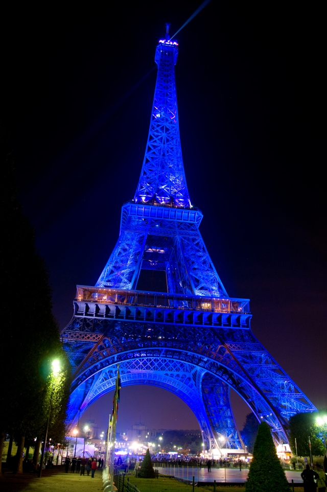 Eiffel Tower - Blue