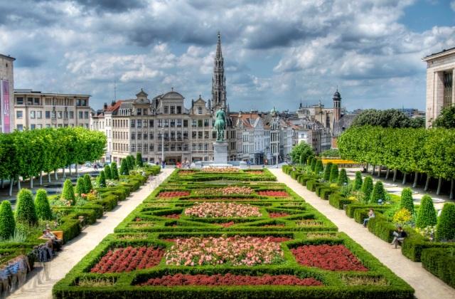 Brussels, Belgium, Garden HDR