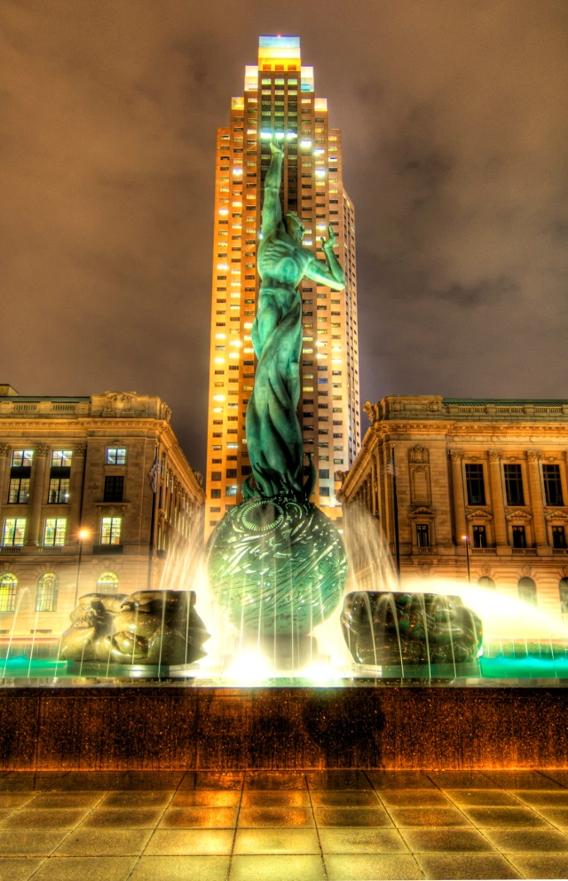 Cleveland - Fountain of Eternal Life (HDR)