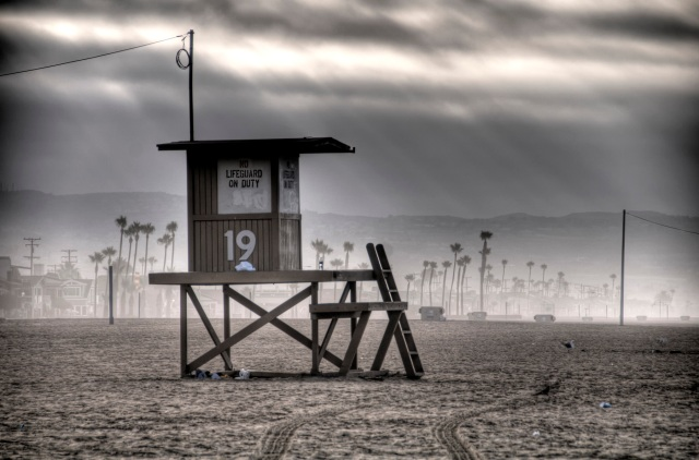 Newport Beach, CA - Lifeguard (HDR)