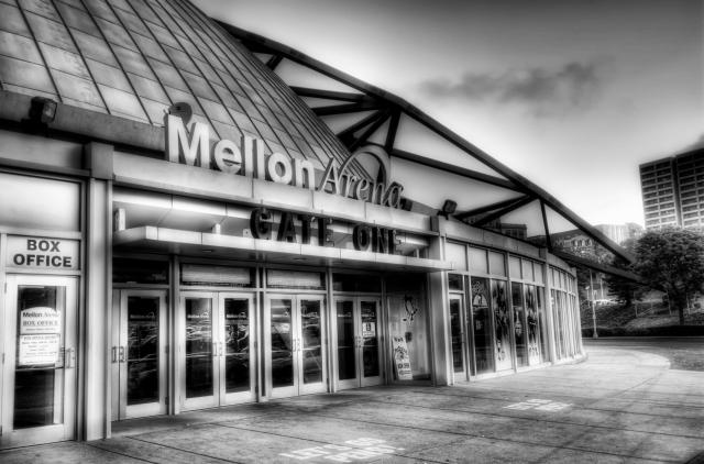 Mellon Arena B&W HDR